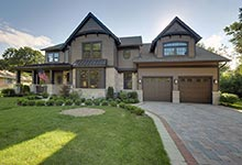 304-McArthur-Mt-Prospect - House-Front-Driveway - Globex Developments Custom Homes