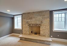 304-McArthur-Mt-Prospect - basement-fireplace-detail - Globex Developments Custom Homes