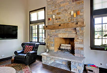 316-Luthin-Oak-Brook - Family Room Fireplace - Globex Developments Custom Homes