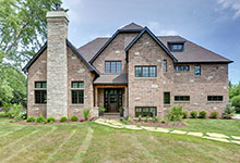 316-Luthin-Oak-Brook - House Front Elevation - Globex Developments Custom Homes