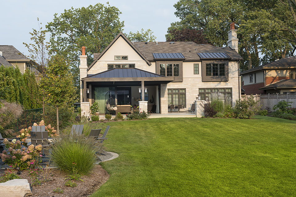 326-Country - Back-Elevations,-Fire-Pit - Globex Developments Custom Homes