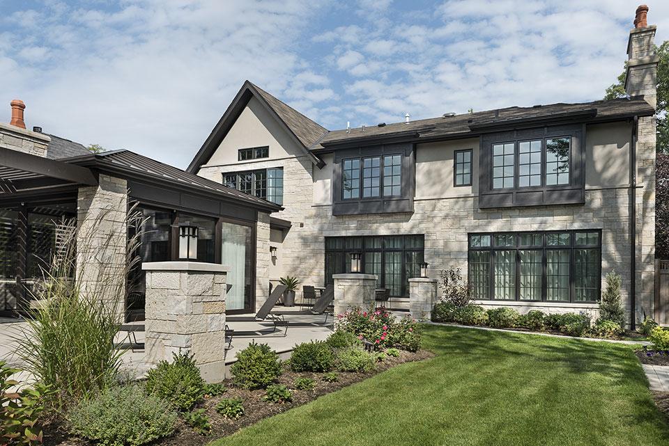 326-Country - Back Elevation Side View - Globex Developments Custom Homes