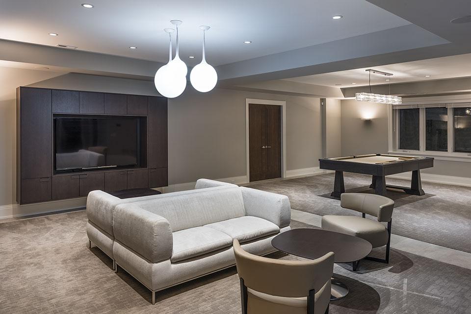 326-Country - Basement, Billiard Table View - Globex Developments Custom Homes
