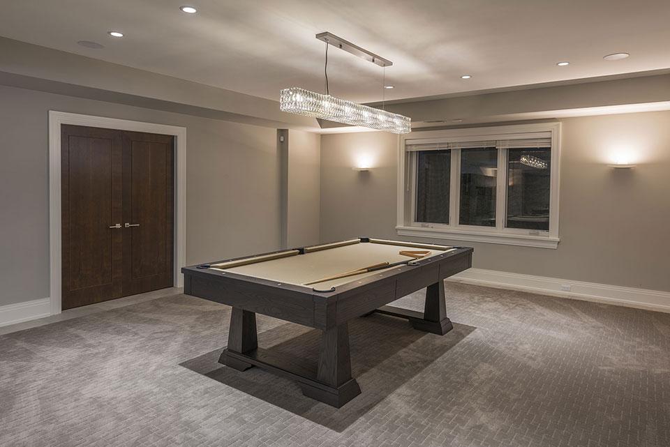 326-Country - Basement, Billiard Table - Globex Developments Custom Homes