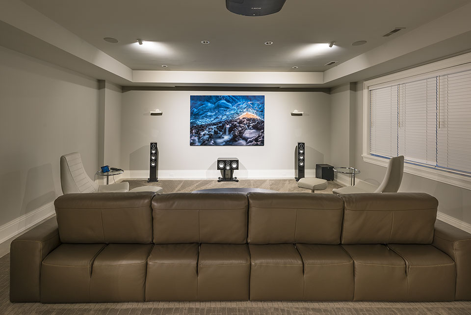 326-Country - Basement, Home Theater, Projector Up - Globex Developments Custom Homes