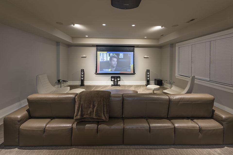 326-Country - Basement, Home Theater, Projector Working - Globex Developments Custom Homes