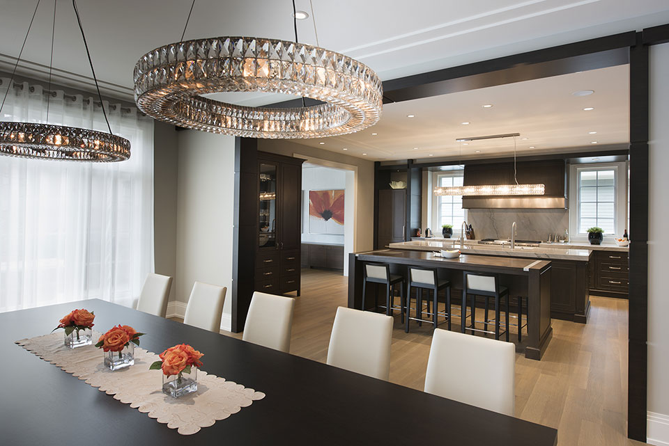 326-Country - Dining Table, Kitchen View - Globex Developments Custom Homes