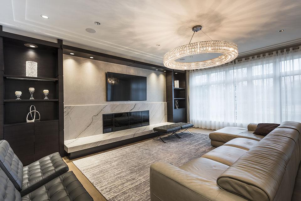 326-Country - Family Room Entrance View - Globex Developments Custom Homes
