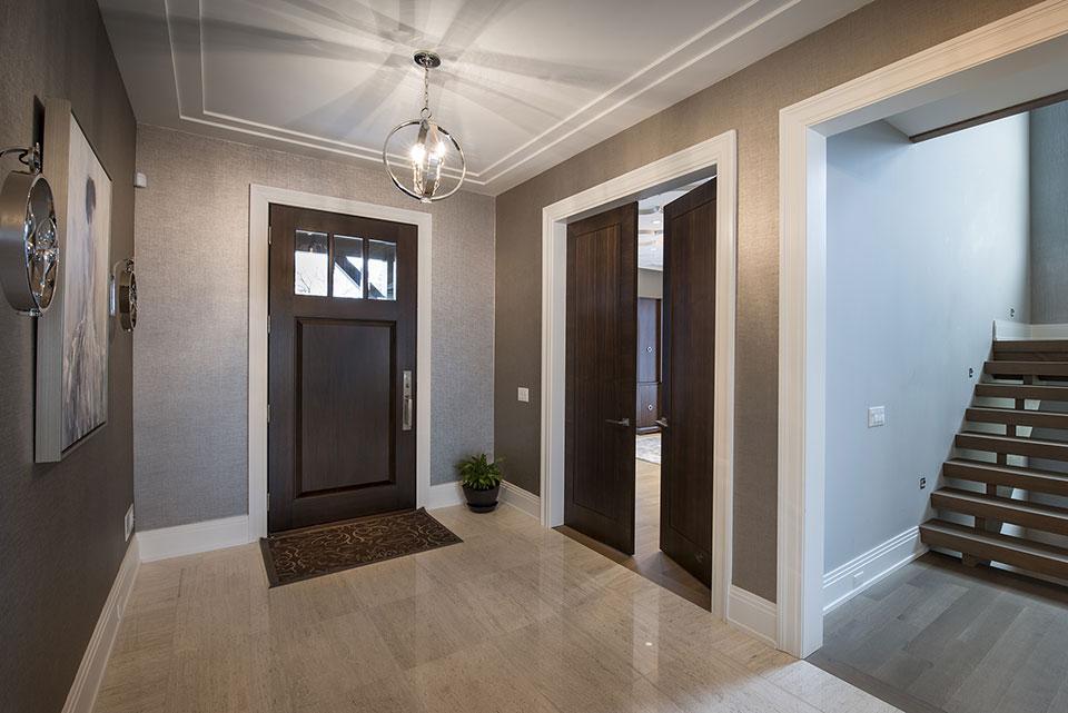 326-Country - Front Door, Office Double Door, Foyer - Globex Developments Custom Homes