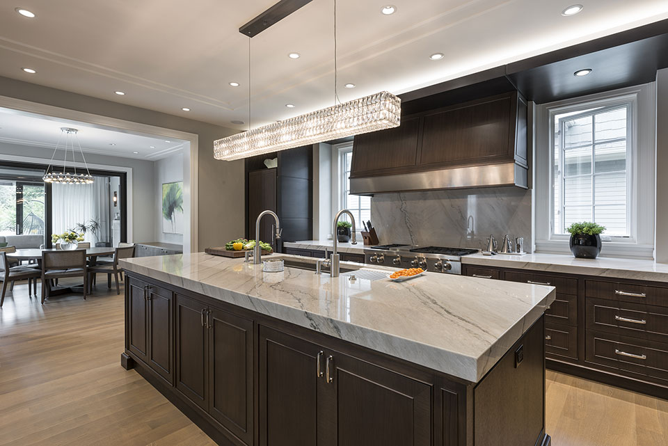 326-Country - Kitchen-Island,-Breakfast-Area-View - Globex Developments Custom Homes