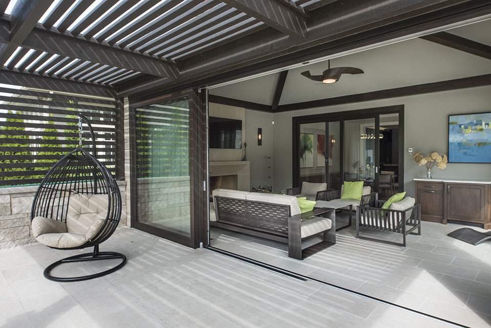 326-Country - Pergola,-Sunroom-Open - Globex Developments Custom Homes