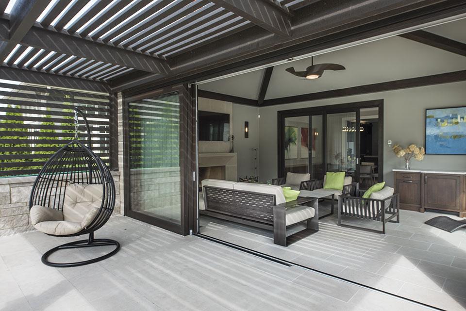 326-Country - Pergola, Sunroom Open - Globex Developments Custom Homes