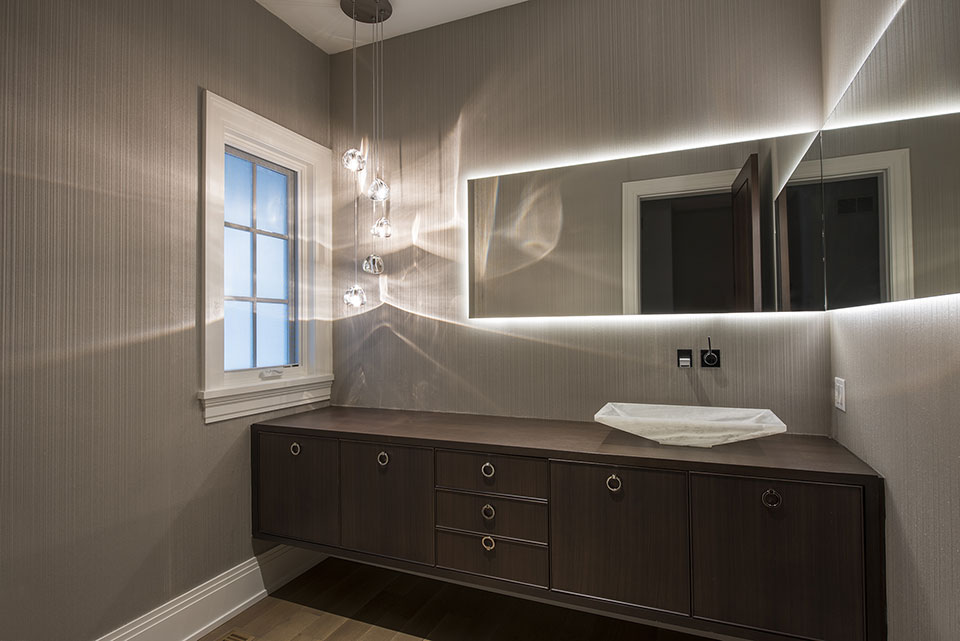 326-Country - Powder-Room - Globex Developments Custom Homes