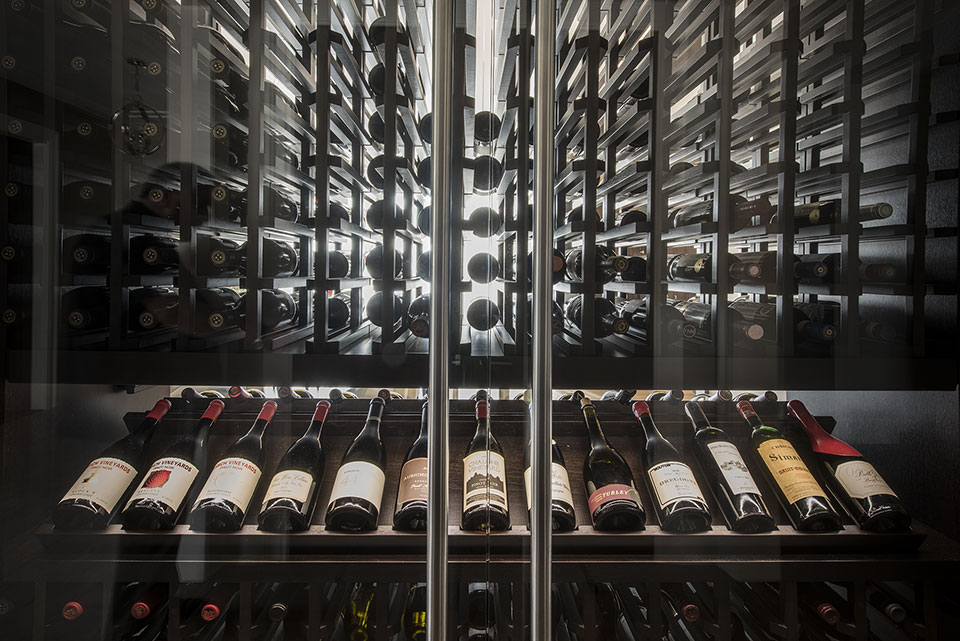 Custom Wine Cellar - Custom Refrigerated Wine Cabinet  Modern Single Family Home, Glenview Haus Photo Gallery, Chicago