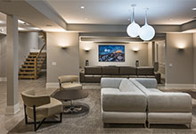 326-Country - Basement, Home Theater, Stairs - Globex Developments Custom Homes