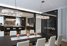326-Country - Dining Room, Kitchen, Custom Refrigerated Wine Cabinets - Globex Developments Custom Homes