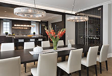 326-Country - Dining  Wine Cabinet  Kitchen - Globex Developments Custom Homes