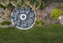 326-Country - Fire Pit Aerial View - Globex Developments Custom Homes