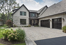 326-Country - Front Elevation, Garage Doors - Globex Developments Custom Homes