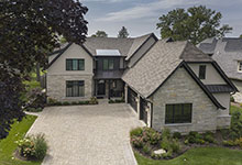 326-Country - Front Elevation, Aerial View  - Globex Developments Custom Homes
