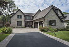 326-Country - Front Elevation - Globex Developments Custom Homes