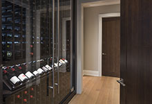 326-Country - Interior Door close-up, Custom Refrigerated Wine Cabinet - Globex Developments Custom Homes