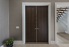 326-Country - Office Modern Door DBIM MD1005 Mahogany Walnut - Globex Developments Custom Homes