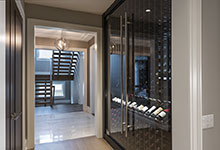 326-Country - Wine Cellar Cabinet Stairs View - Globex Developments Custom Homes