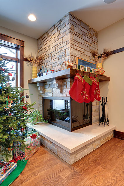 803-Solar-Glenview - Fireplace - Globex Developments Custom Homes