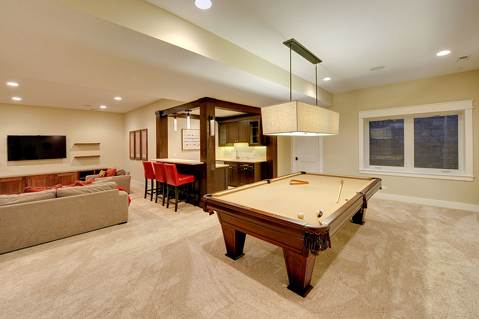 803-Solar-Glenview - Great-Room-Pooltable - Globex Developments Custom Homes