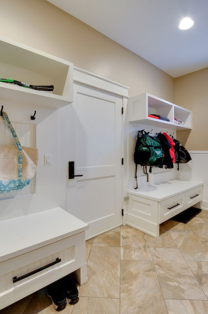 803-Solar-Glenview - Mudroom-GarageDoor - Globex Developments Custom Homes