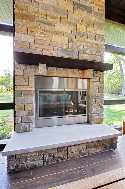 803-Solar-Glenview - Sunroom-Fireplace - Globex Developments Custom Homes