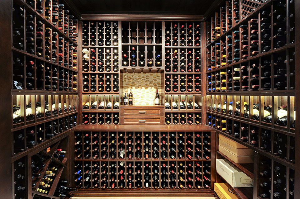 Custom Wine Cellar - Wine Cellar. Space maximized to accommodate expansive wine collection Solar Ln., Glenview, Glenview Haus Photo Gallery, Chicago