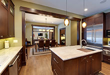803-Solar-Glenview - Kitchen-Island-View - Globex Developments Custom Homes