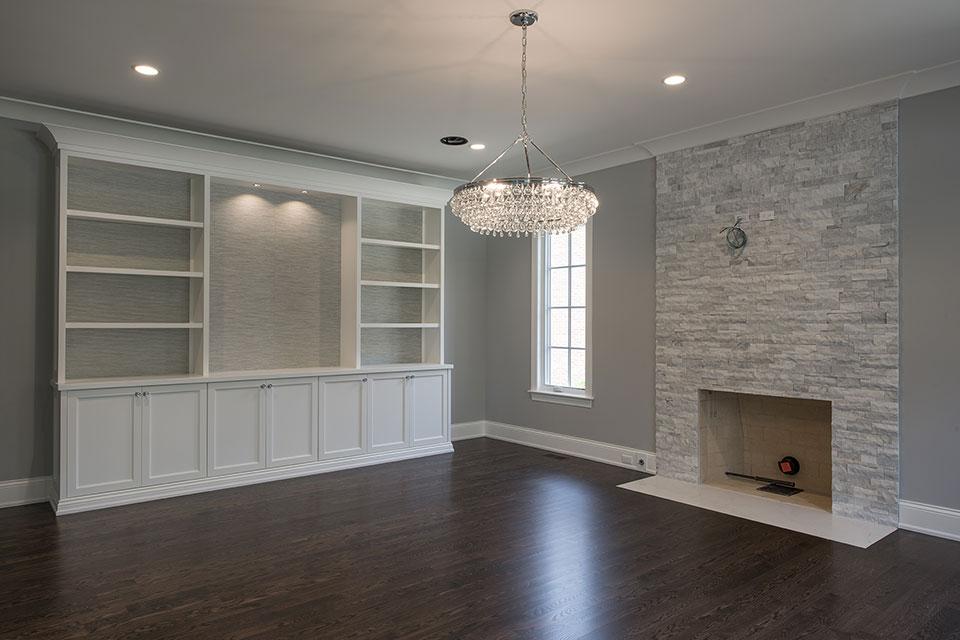 825-Lenox-Glenview - Familty Room, Custom Cabinets, Fireplace - Globex Developments Custom Homes