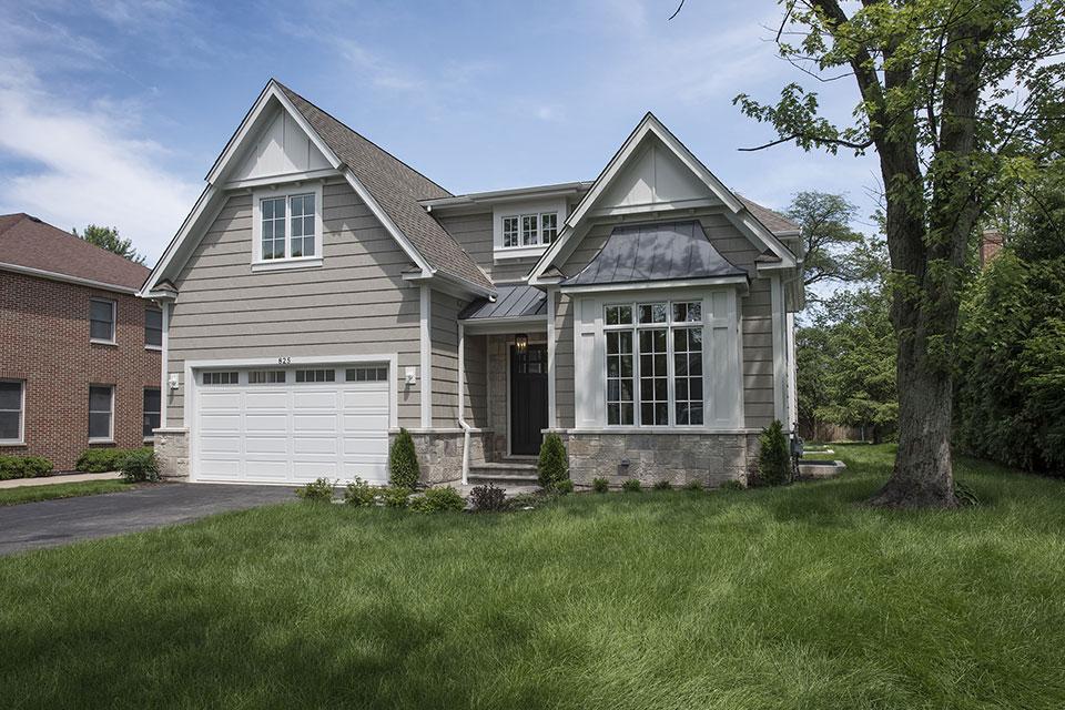 825-Lenox-Glenview - Front Elevations, Side View - Globex Developments Custom Homes