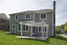 825-Lenox-Glenview - Back Elevations, Pergola - Globex Developments Custom Homes