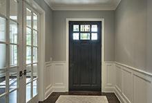 825-Lenox-Glenview - DB 311PW_Mahogany Espresso Front Door Inside - Globex Developments Custom Homes
