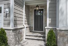 825-Lenox-Glenview - DB 311PW_Mahogany Espresso Front Doors - Globex Developments Custom Homes