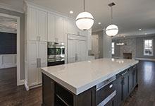 825-Lenox-Glenview - Kitchen Island, Refrigirator View - Globex Developments Custom Homes