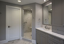 825-Lenox-Glenview - Master Bathroom, Shower, Paint Grade Door - Globex Developments Custom Homes