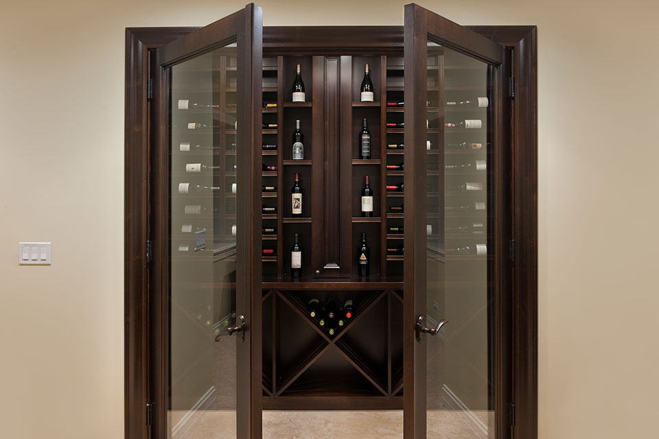 Custom Wine Cellar - Elegant, custom wine storage solution  Surrey St., Glenview, Glenview Haus Photo Gallery, Chicago
