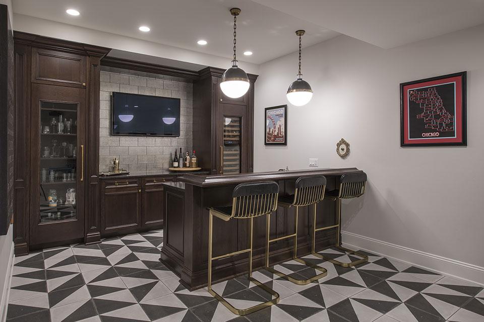 Glenview-Coastal - Basement Bar - Globex Developments Custom Homes