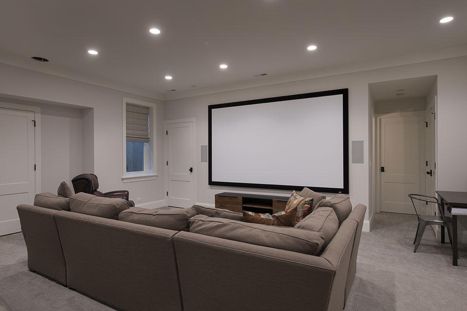 Glenview-Coastal - Basement Theatre - Globex Developments Custom Homes