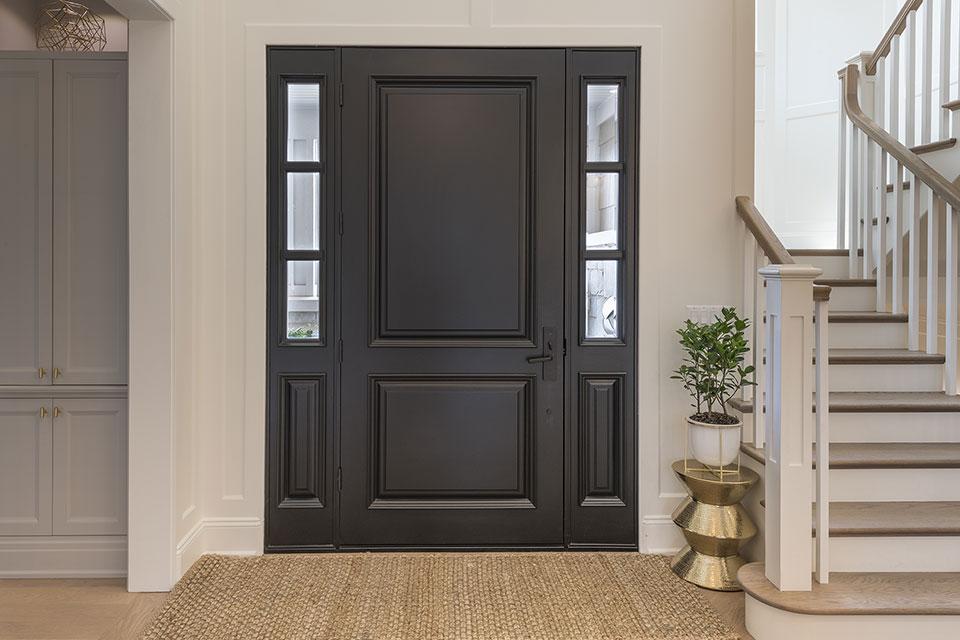 Glenview-Coastal - DB 301PW 2SL Front Door. - Globex Developments Custom Homes