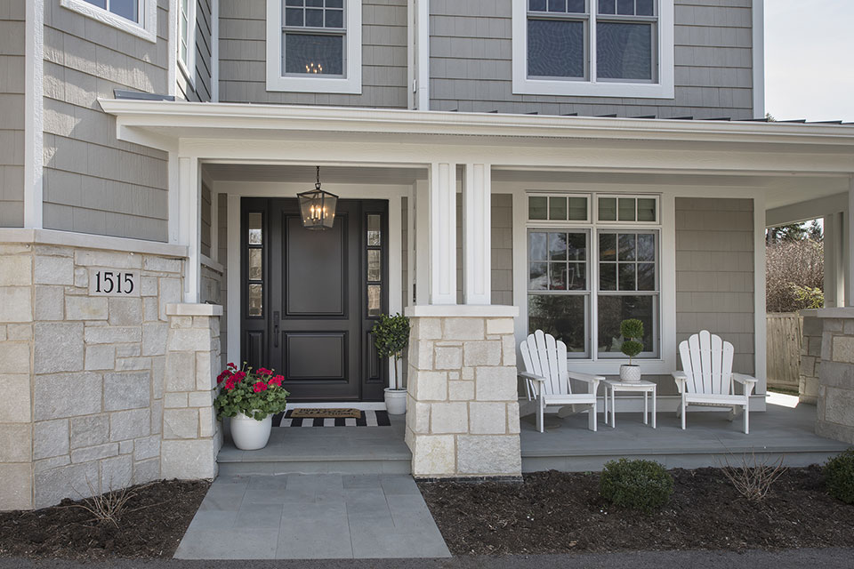 Glenview-Coastal - Entrance,-DB-301PW-2SL-Front-Door - Globex Developments Custom Homes