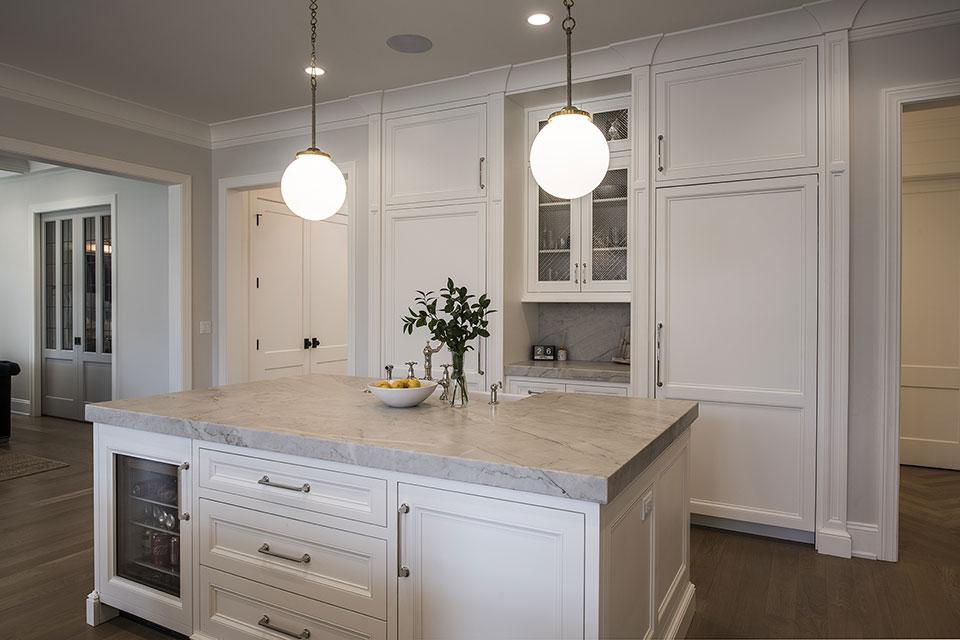 Glenview-Coastal - Kitchen Island - Globex Developments Custom Homes