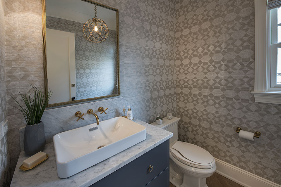 Glenview-Coastal - Powder-Room - Globex Developments Custom Homes