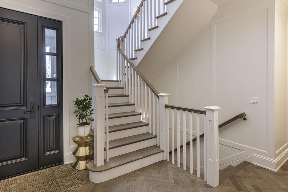 Glenview-Coastal - Stairs, Foyer,  Door - Globex Developments Custom Homes