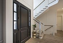 Glenview-Coastal - DB 301PW 2SL Front Door, Interior Angle View - Globex Developments Custom Homes